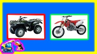 Machines Videos for Kids - Dirt Bike ATV