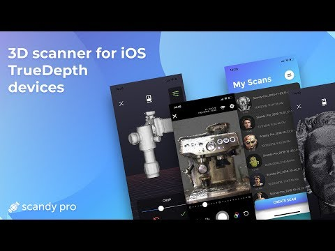 Scandy Pro - Full Color 3D Scanning on Your iPhone X in 30 Seconds