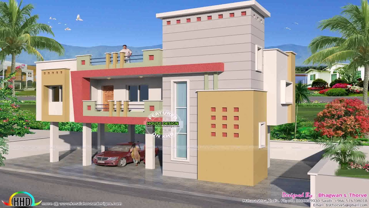 Indian House Designs For 700 Sq Ft - YouTube
