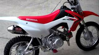 honda crf110f yoshimura rs 2 exhaust two brothers billet footpegs bbr honda of chattanooga tn