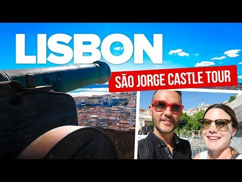LISBON Castle Tour! Exploring Sao Jorge. Travel to Lisbon.