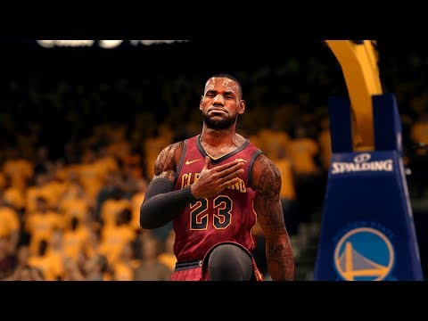 NBA LIVE 18 - CAVS Vs WARRIORS Gameplay + Finals Presentation