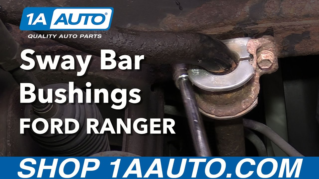 how to replace sway bar bushings 98 12 ford ranger youtube ford taurus front suspension diagram front sway bar ford ranger [ 1280 x 720 Pixel ]