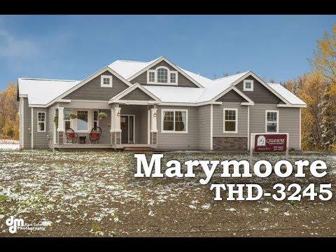 Tour Of Midsize Craftsman House Plan Thd 3245 Youtube