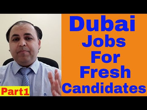 Dubai Jobs For Fresh and Experienced Candidates  || Handsome Salary | Jobs in Dubai