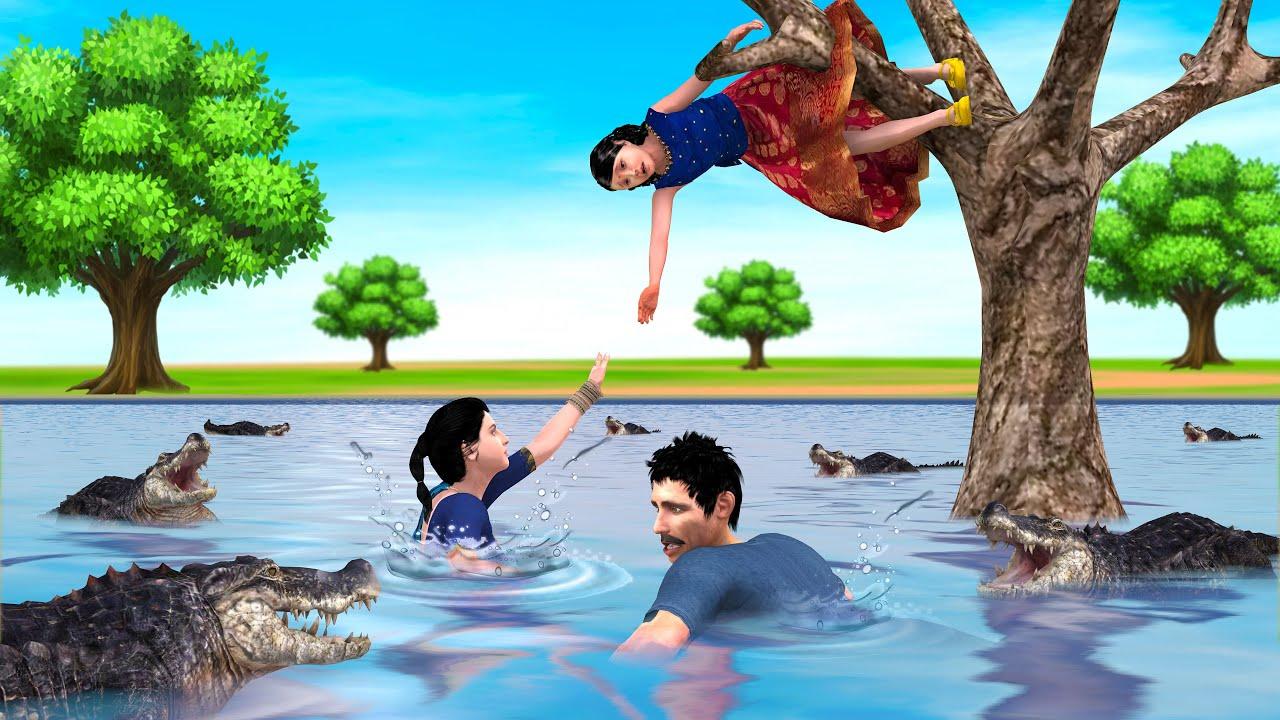வெள்ளத்தில் ஏழை குடும்பம் tamil stories - tamil kathaivigal - tamil latest stories - grandma tv