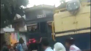 Train accident, very dangerous railway track