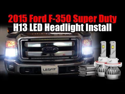 2015 Ford F-350 Super Duty Lariat LASFIT LS Plus Series LED Headlight Upgrade - Bulb Size H13