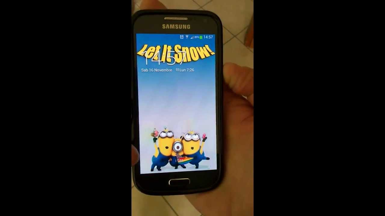 Let It Snow Android Live Wallpaper Custom Back With