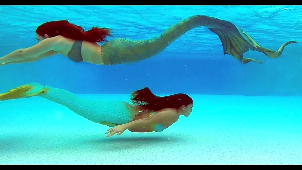 MERMAIDS SWIMMING UNDERWATER ✨