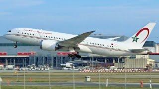 [FullHD] Royal Air Maroc Boeing 787-8 Dreamliner landing & takeoff at Geneva/GVA/LSGG