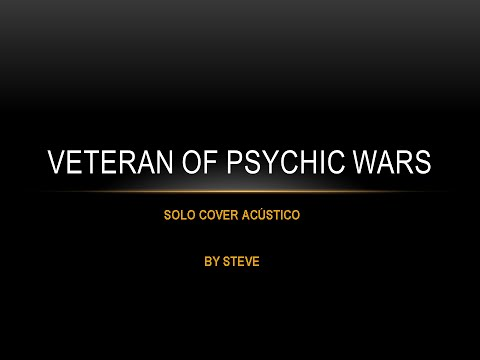 Veteran of psychic wars - Metallica solo cover acústico