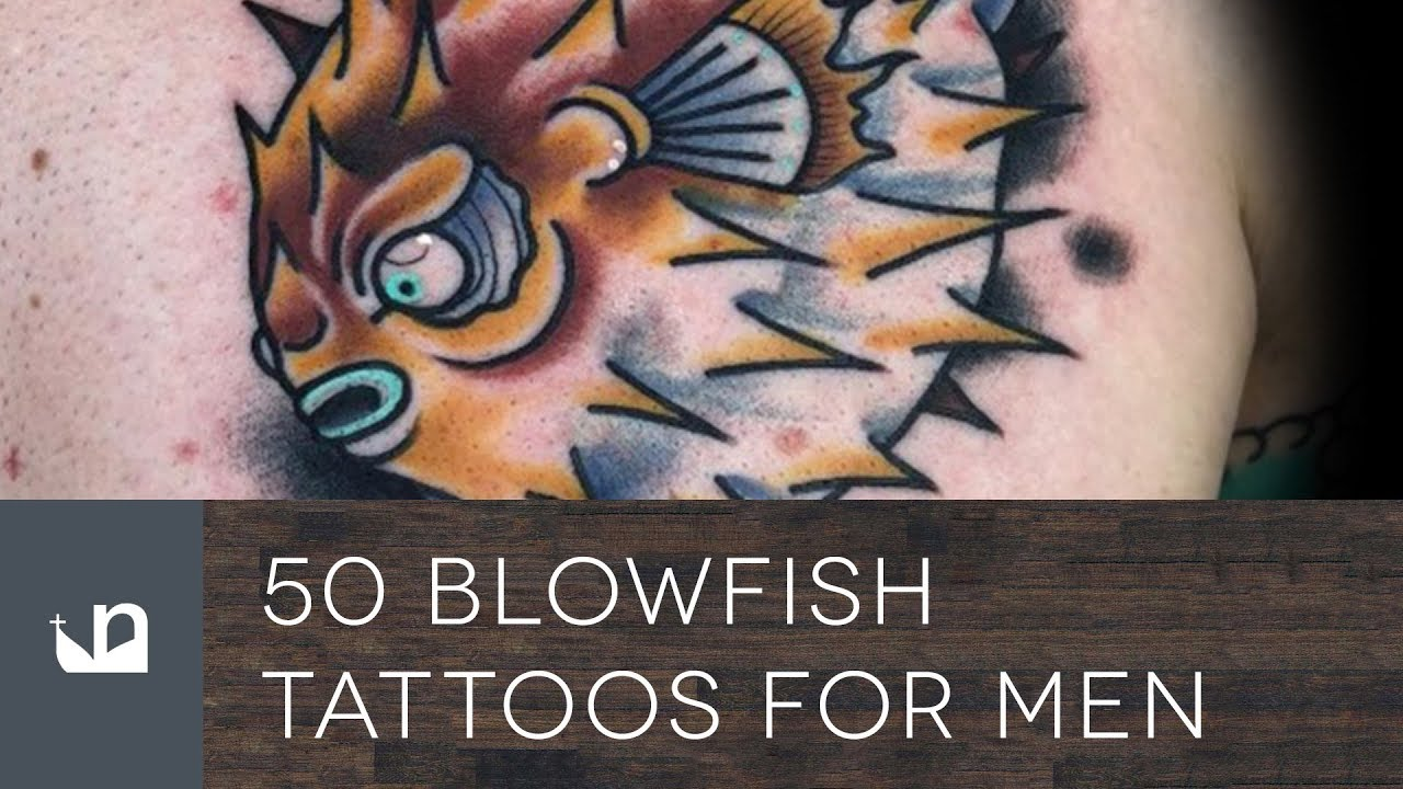 50 Pufferfish Tattoo Ideas For Men – Tetraodontidae Blowfish Designs