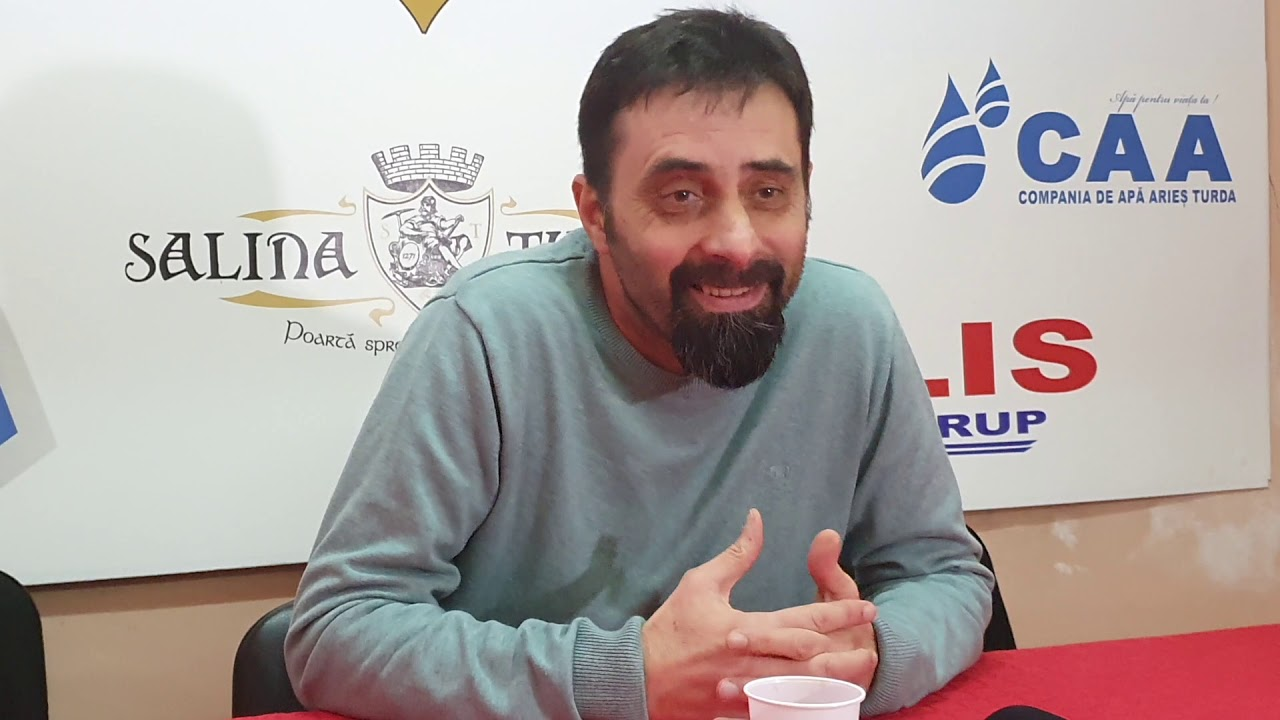 Antrenorul Costică Olariu, la reluarea pregătirilor Sticla Arieșul Turda (15.01.2019)