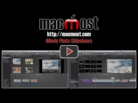 how to create a slideshow in imovie