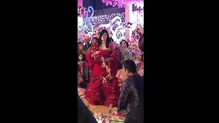 Radhe maa in a marriage  function.,
