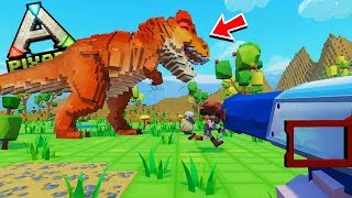 MINECRAFT with dinosaurs MELTS at ARK and ROBLOX! -PixArk ENG