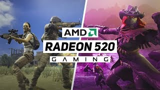 AMD Radeon 520 Gaming Performance 2018!