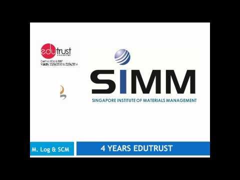 Singapore Institute of Materials Management (SIMM) Master of Logistics (Supply Chain Management)