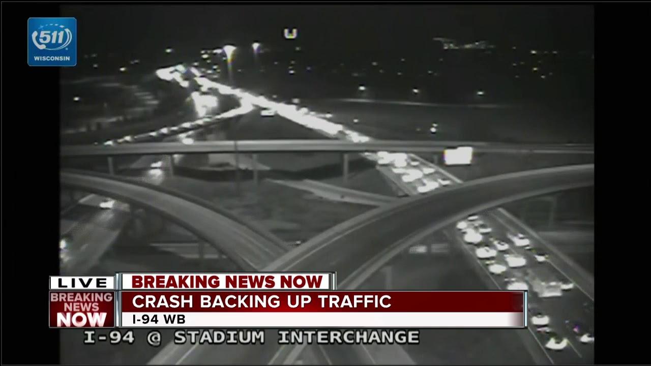 Crash Backs Up I-94 Traffic at Stadium Interchange