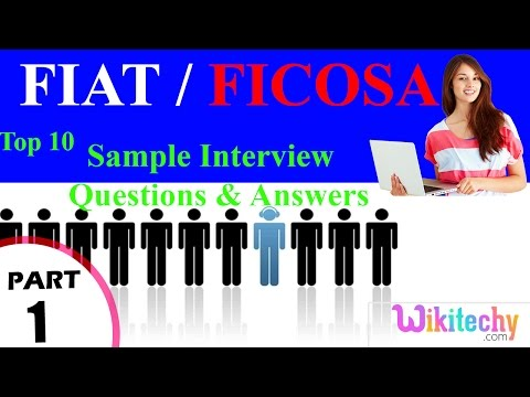 fiat | ficosa top most interview questions and answers for freshers / experienced tips online videos