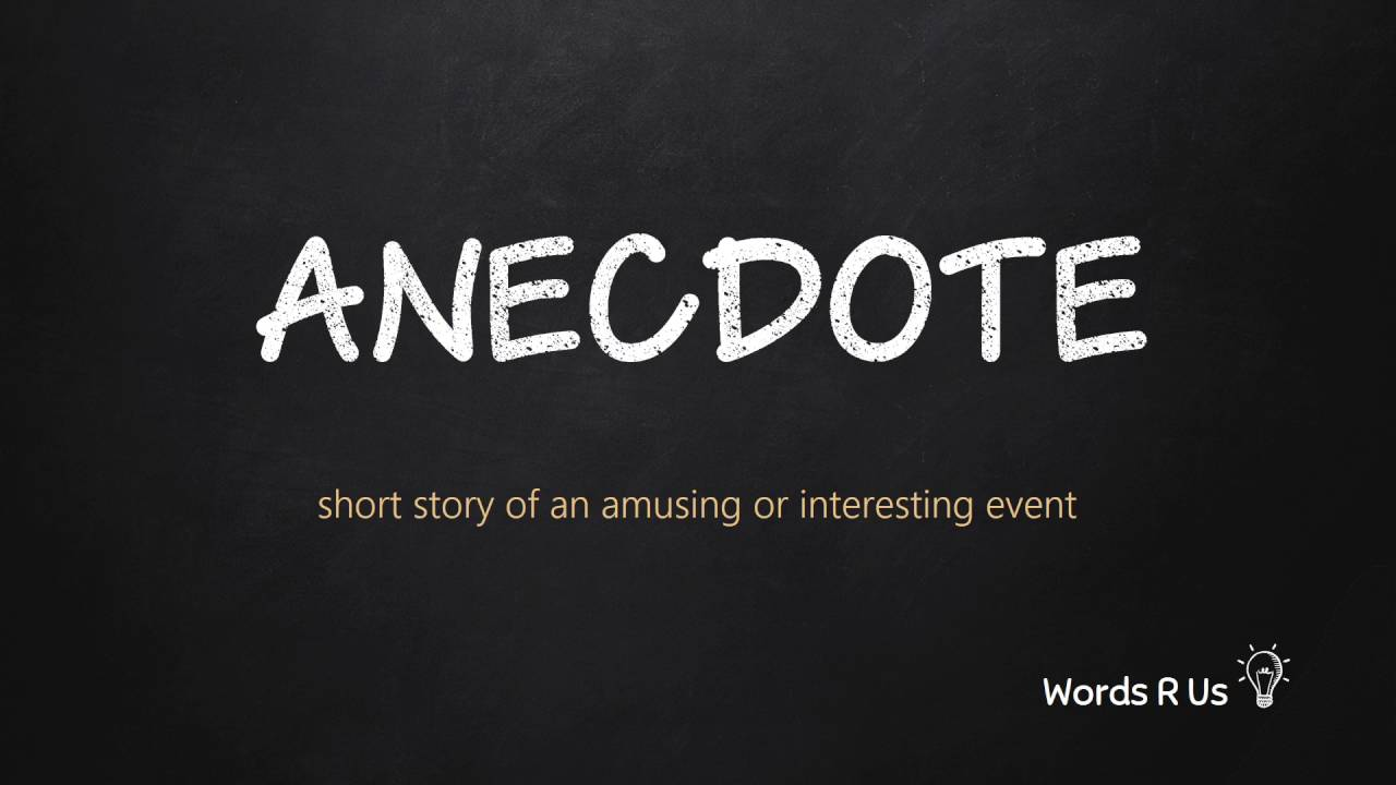 How to Pronounce ANECDOTE in American English