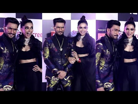 Ranveer-Deepika Makes DASHING ENTRY At Star Screen Awards 2018