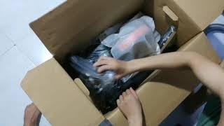 Đập hộp máy hút bụi Samsung mua trên lazada