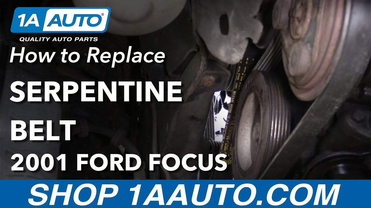 hight resolution of how to remove replace serpentine belt 2001 ford focus
