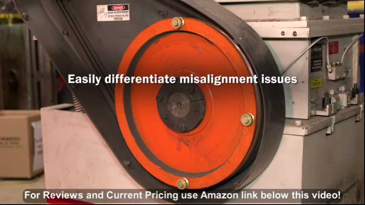 Johnson Level 40-6200 Red Beam Magnetic Sheave Alignment Kit Red