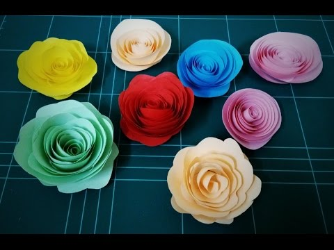 How to make rolled paper roses / DIY Flower