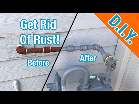 How To Paint Rusted Natural Gas Pipes