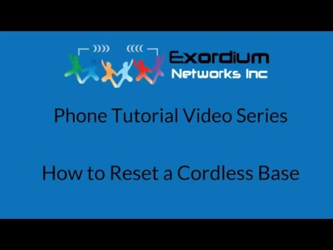 How to Reset a Cordless Base