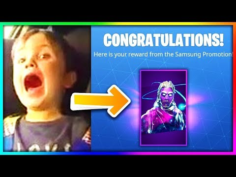 KID FREAKS OUT AFTER UNLOCKING NEW Galaxy Skin IN FORTNITE!