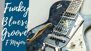 Funky Bluesy Groove Guitar Backing Track Jam in F Major