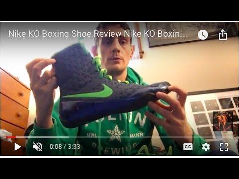 d6e1411a0885 Nike KO Boxing Shoe Review Nike KO Boxing Boot Review - YouTube