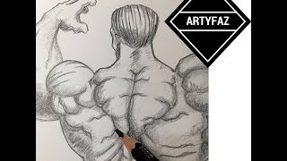 How to Draw Back Muscles(HULK)