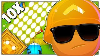 x10 UNLIMITED SUPER MONKEY TEMPLE MOD - BLOONS TD BATTLES MOD (TOWER DEFENSE)