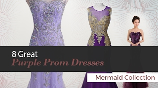 8 Great Purple Prom Dresses Mermaid Collection