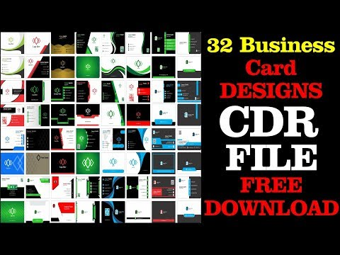 32 Best Business Card Designs CDR Free Download By Future Academy