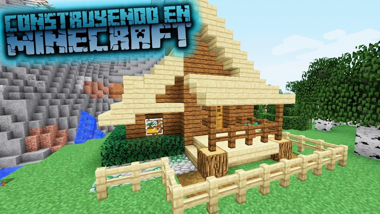 Como hacer una caba a moderna para survival en minecraft - Como construir una cabana ...