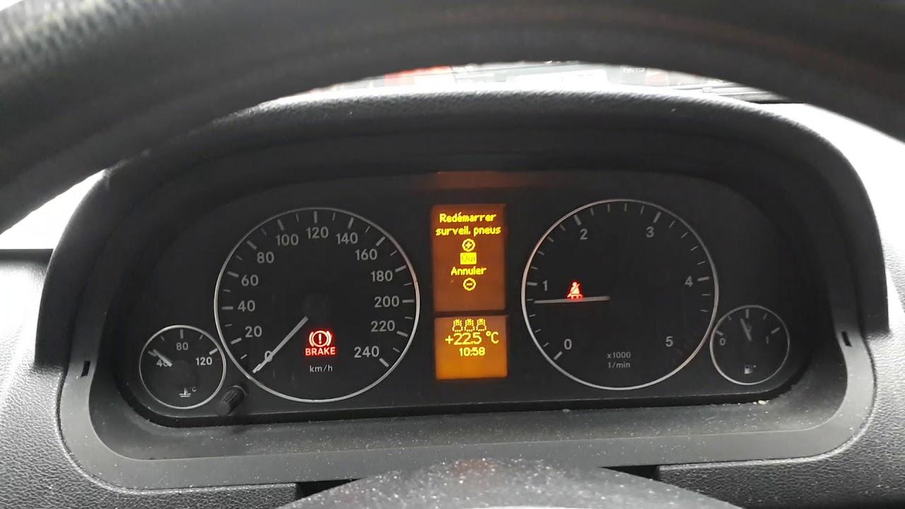 reset pression des pneus class a et class b 2007 youtube