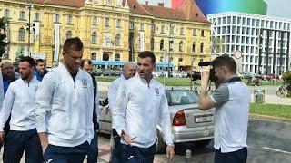 Ранкова  прогулянка збірної України в Загребі