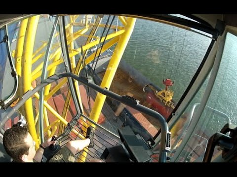 Liebherr LHM400 Compilation (Training) Mobile harbour crane Port of Antwerp GoPro