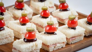 Prosciutto Canapés with Cornichon Skewer