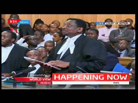 Senior Lawyer James Orengo taking Court of Appeal through rounds of legal processes