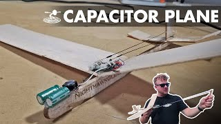 Powered R/C glider without batteries!? | Capacitor plane hack