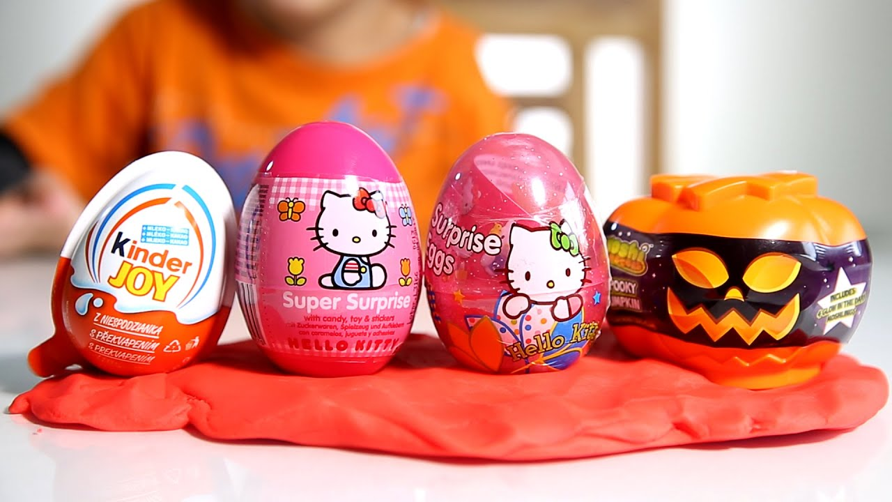 halloween edition egg from moshi monsters 2x hello kitty eggs and kinder joy youtube. Black Bedroom Furniture Sets. Home Design Ideas
