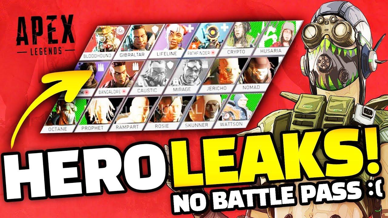 Apex Legends Season 1 Battle Pass Info 10 Leaked Heroes