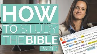 Inductive Bible Study - How to study the BIBLE (part 1)